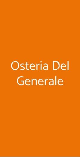 Osteria Del Generale, Milano