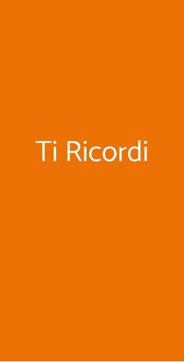 Ti Ricordi, Milano
