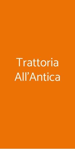 Trattoria All'antica, Milano