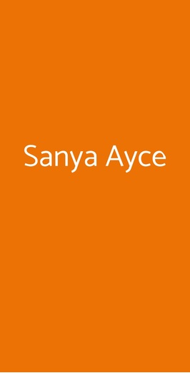 Sanya Ayce, Milano