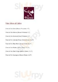 Menu la Vineria