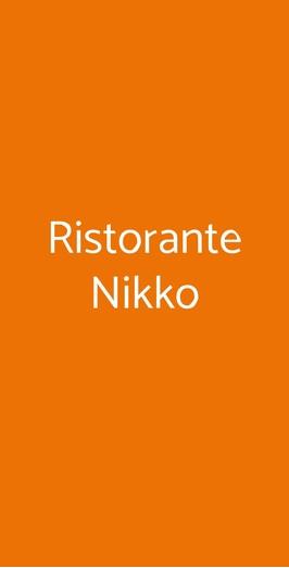 Ristorante Nikko, Milano