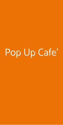 Pop Up Cafe', Milano