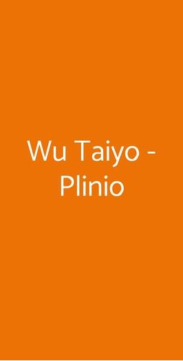 Wu Taiyo - Plinio, Milano