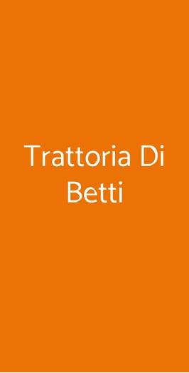 Trattoria Di Betti, Milano