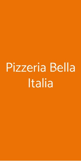 Pizzeria Bella Italia, Milano