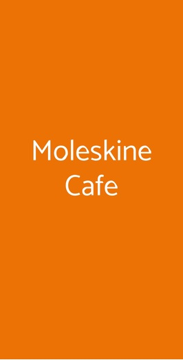 Moleskine Cafe, Milano