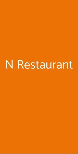 N Restaurant, Milano