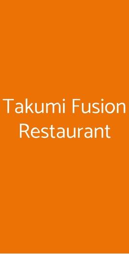 Takumi Fusion Restaurant, Milano