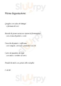 Menu Ristorante La Piazzetta