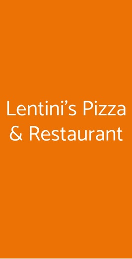 Lentini's Pizza & Restaurant, Milano