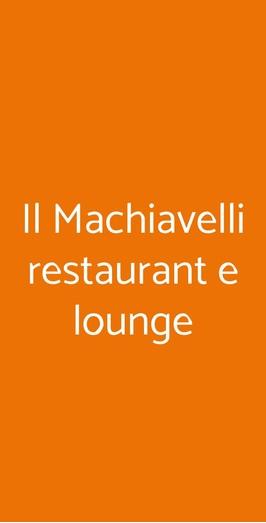 Il Machiavelli Restaurant E Lounge, Pompei