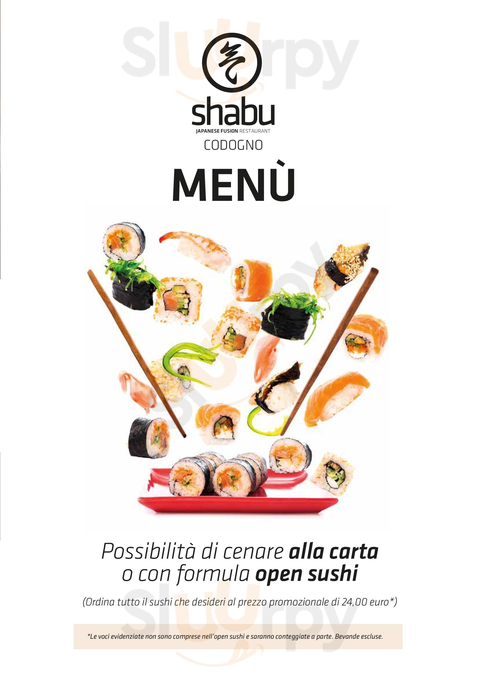 Shabu Japanese Fusion Restaurant Codogno menù 1 pagina