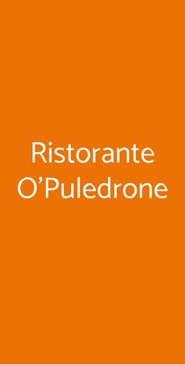 Ristorante O'puledrone, Sorrento