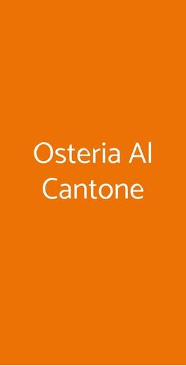 Osteria Al Cantone, Roverbella