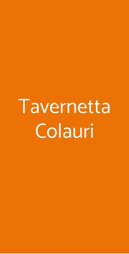 Tavernetta Colauri, Napoli