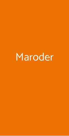 Maroder, Giugliano in Campania