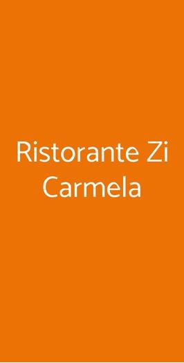 Ristorante Zi Carmela, Forio