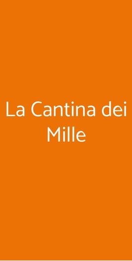 La Cantina Dei Mille, Napoli