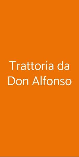 Trattoria Da Don Alfonso, Napoli