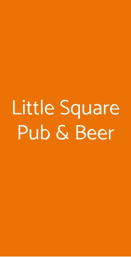 Little Square Pub & Beer, Napoli
