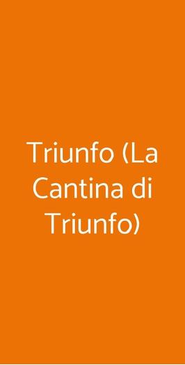 Triunfo (la Cantina Di Triunfo), Napoli