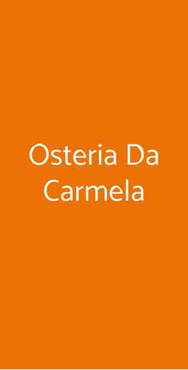 Osteria Da Carmela, Napoli