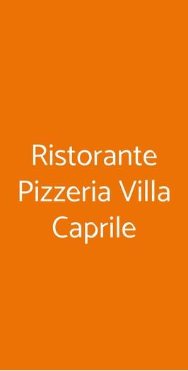 Ristorante Pizzeria Villa Caprile, Massa Lubrense