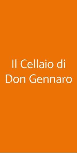 Il Cellaio Di Don Gennaro, Vico Equense