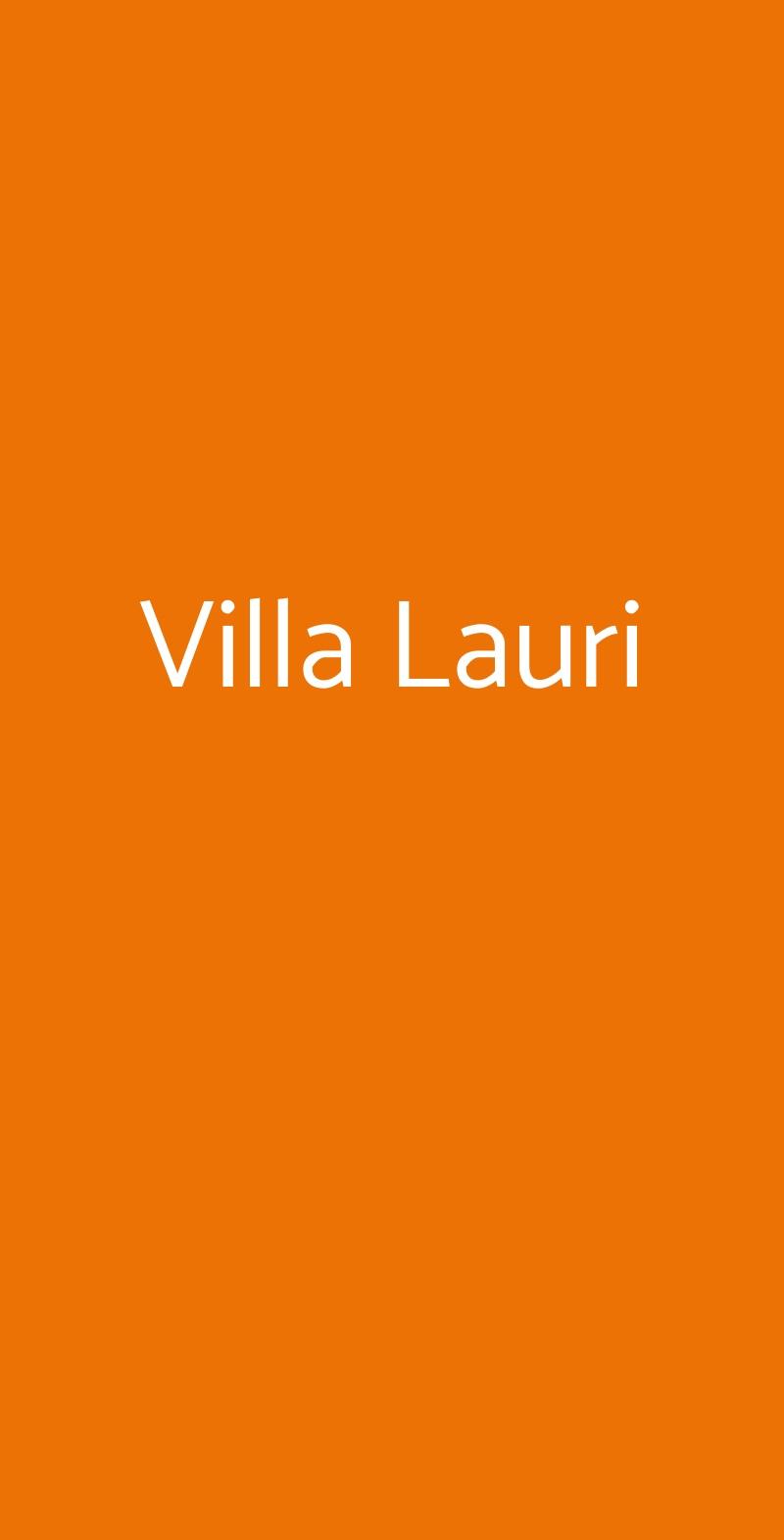 Villa Lauri Palma Campania menù 1 pagina