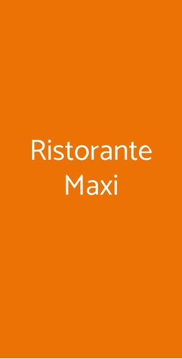 Ristorante Maxi, Vico Equense