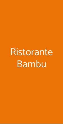 Ristorante Bambu, Napoli