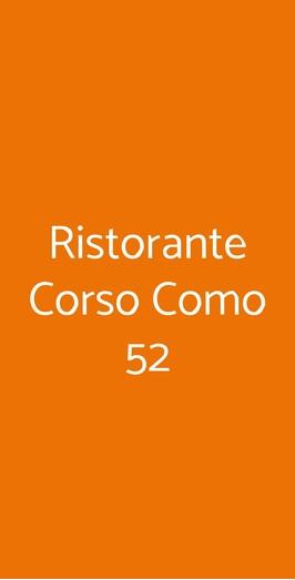 Ristorante Corso Como 52, Limbiate