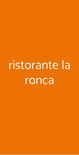 Ristorante La Ronca, Ottaviano