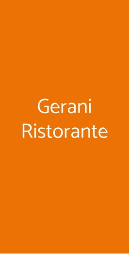 Gerani Ristorante, Santa Maria la Carità