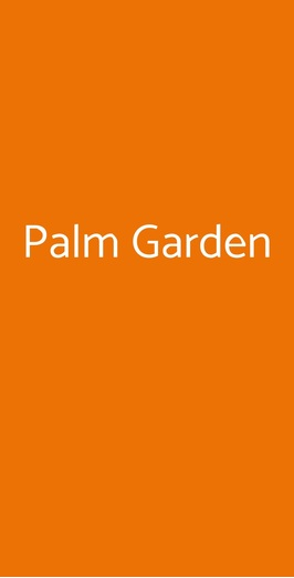 Palm Garden, Terzigno