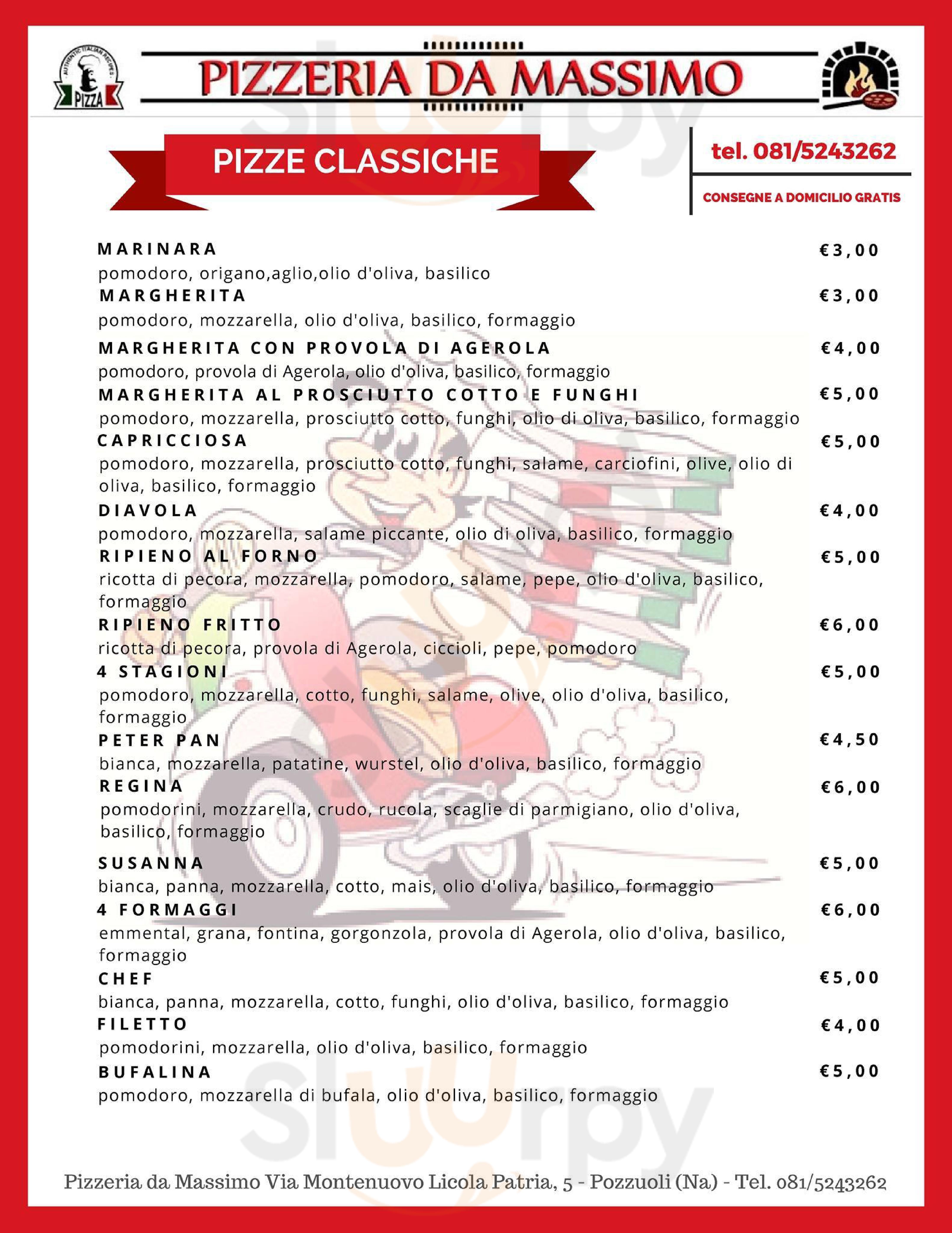 Pizzeria Da Massimo Pozzuoli menù 1 pagina