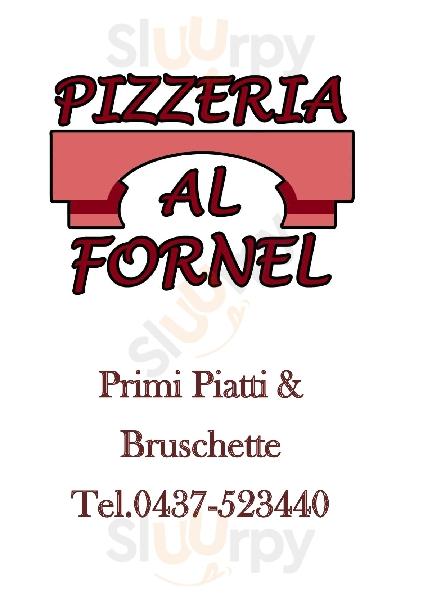 Pizzeria Al Fornel Alleghe menù 1 pagina