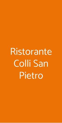 Ristorante Colli San Pietro, Piano di Sorrento