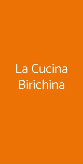La Cucina Birichina, Quarto