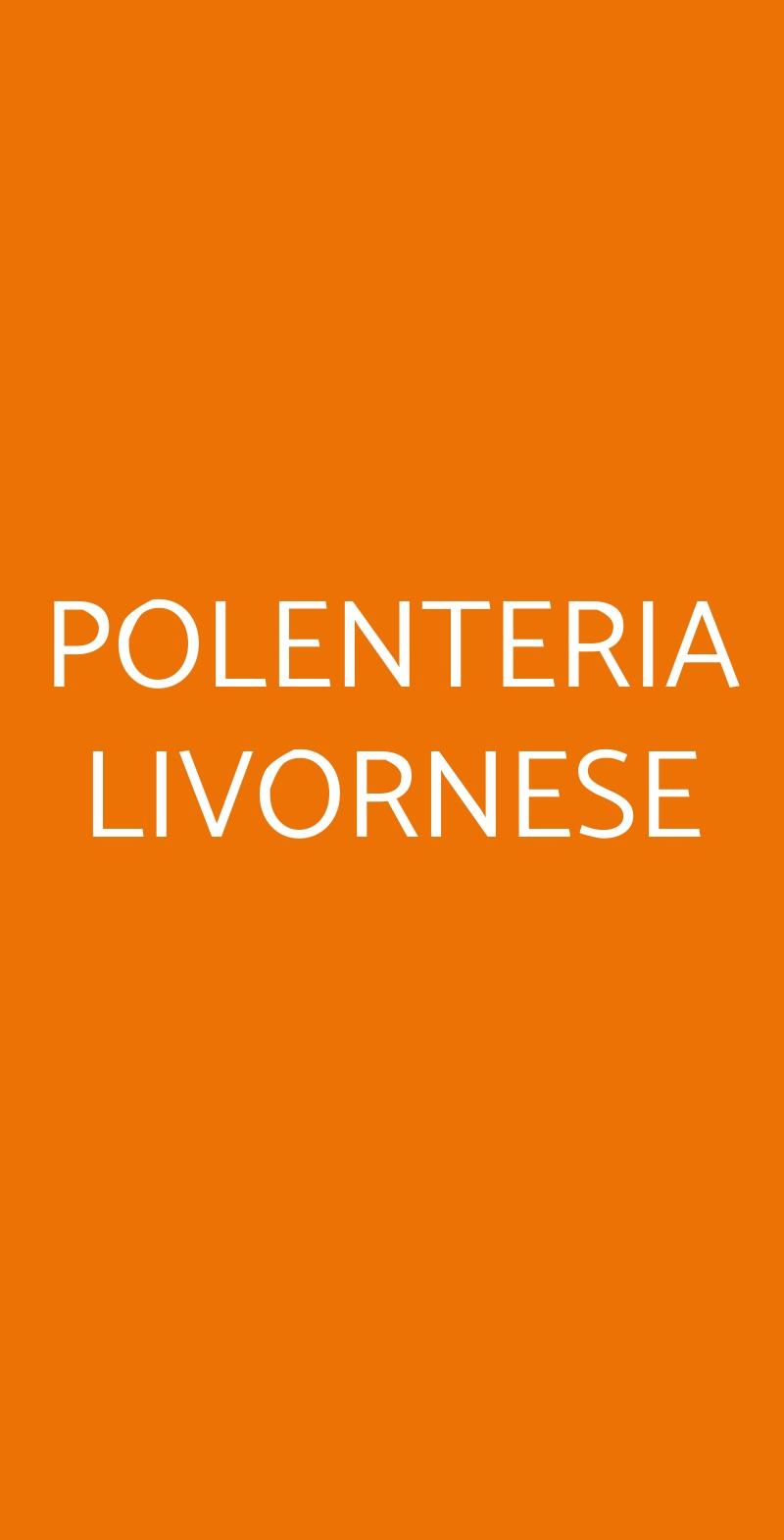 POLENTERIA LIVORNESE Livorno menù 1 pagina