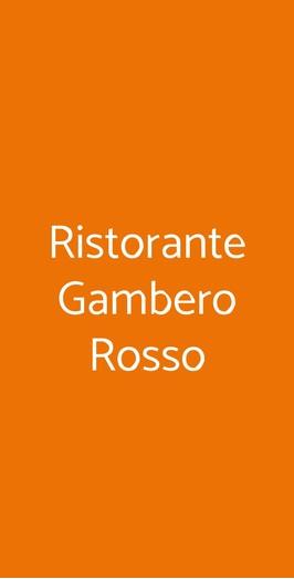 Menu Ristorante Gambero Rosso