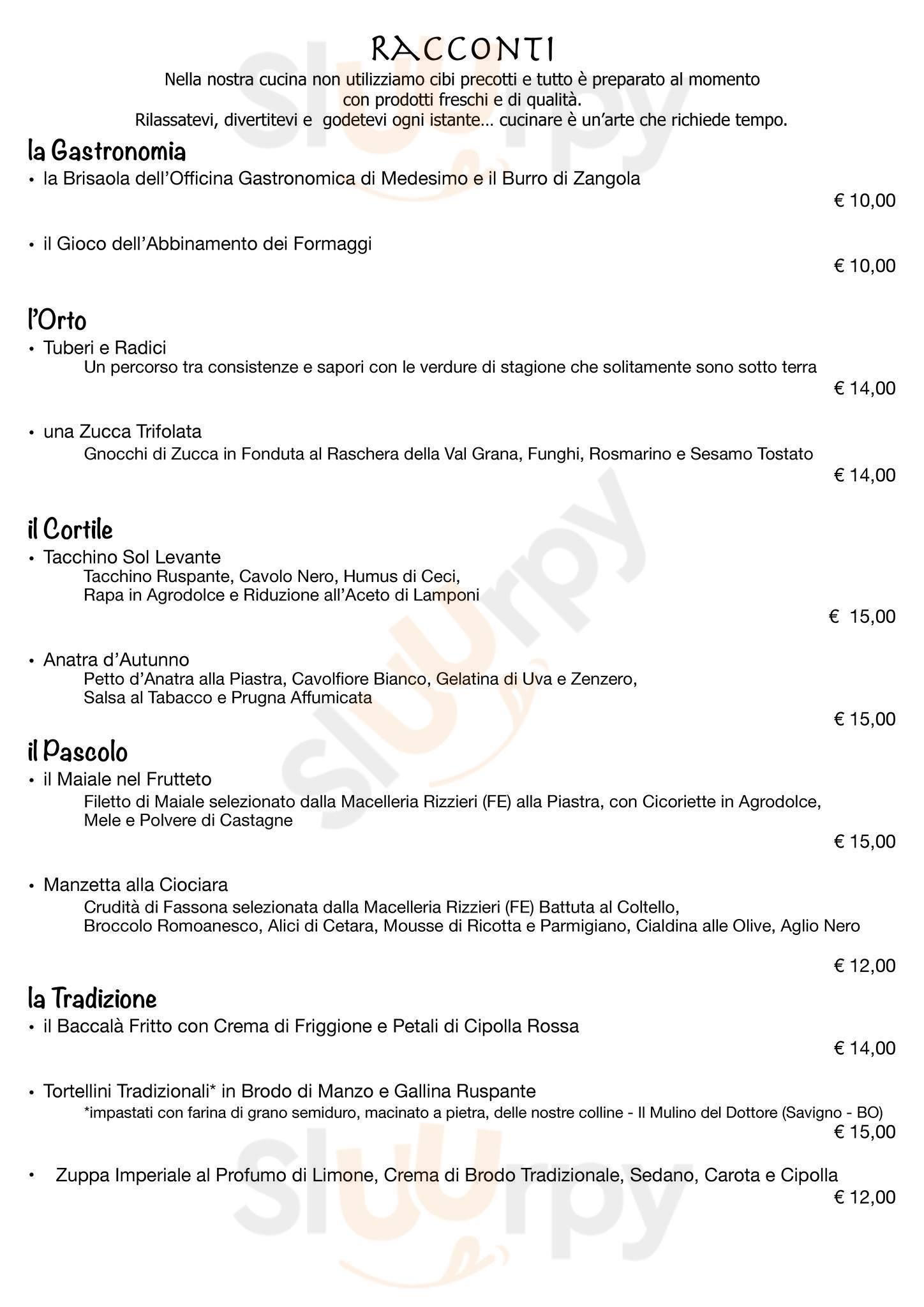 Giro di Vite Ragusa menù 1 pagina