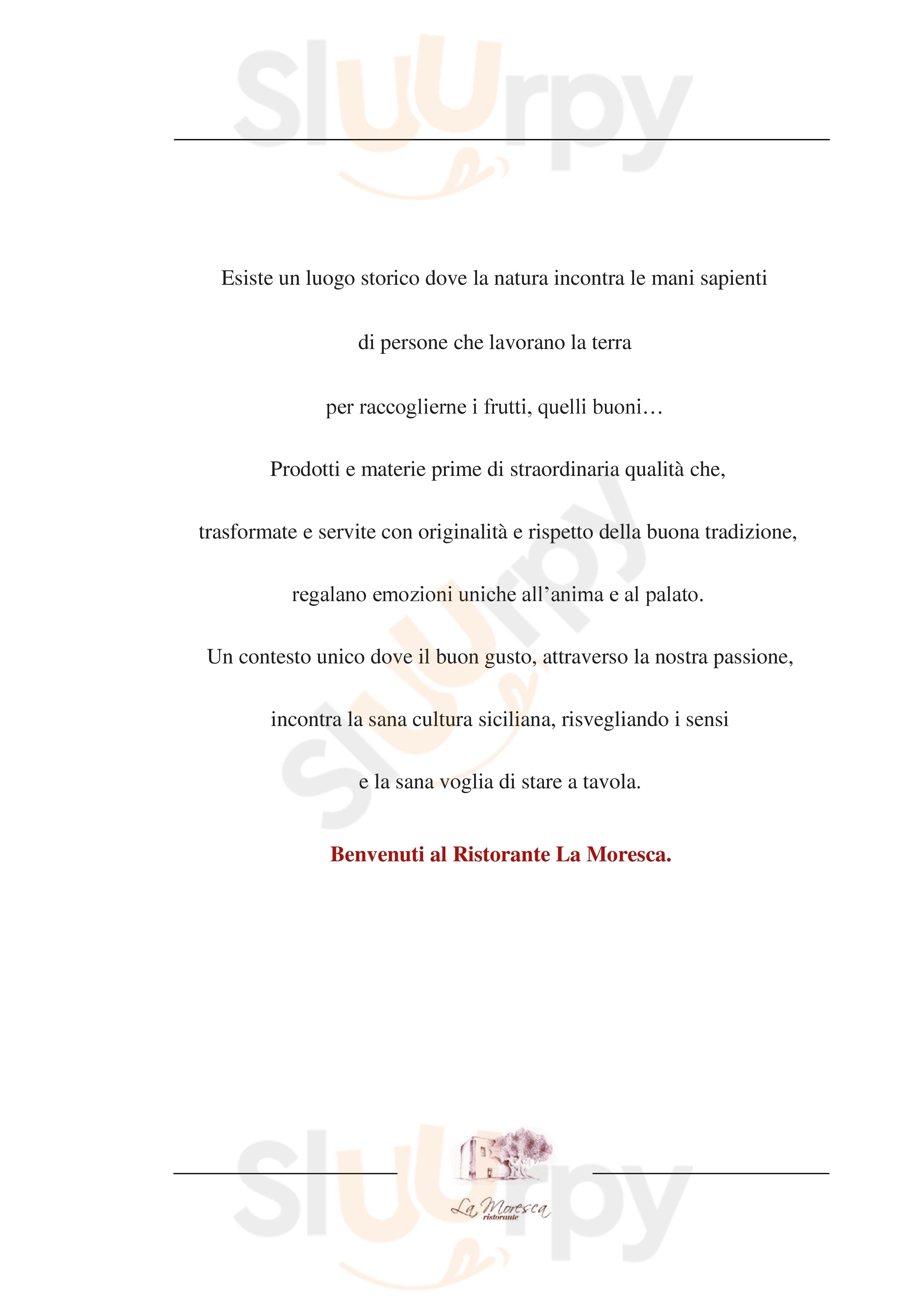 La Moresca Ispica menù 1 pagina