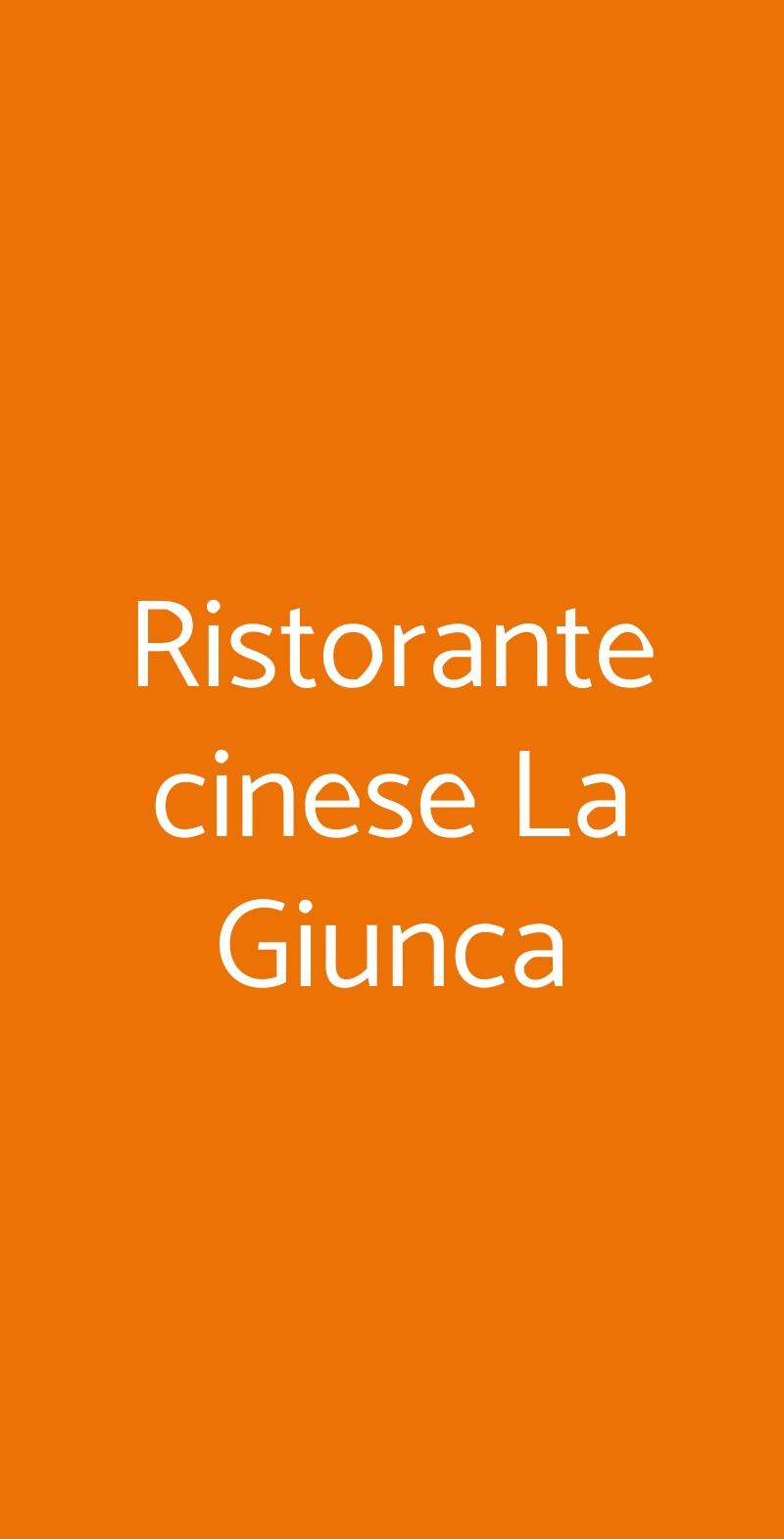 Ristorante cinese La Giunca Torino menù 1 pagina