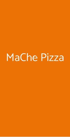 Menu MaChe Pizza