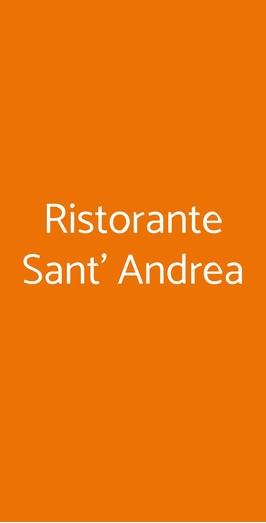 Menu Ristorante Sant' Andrea