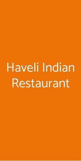 Menu Haveli Indian Restaurant