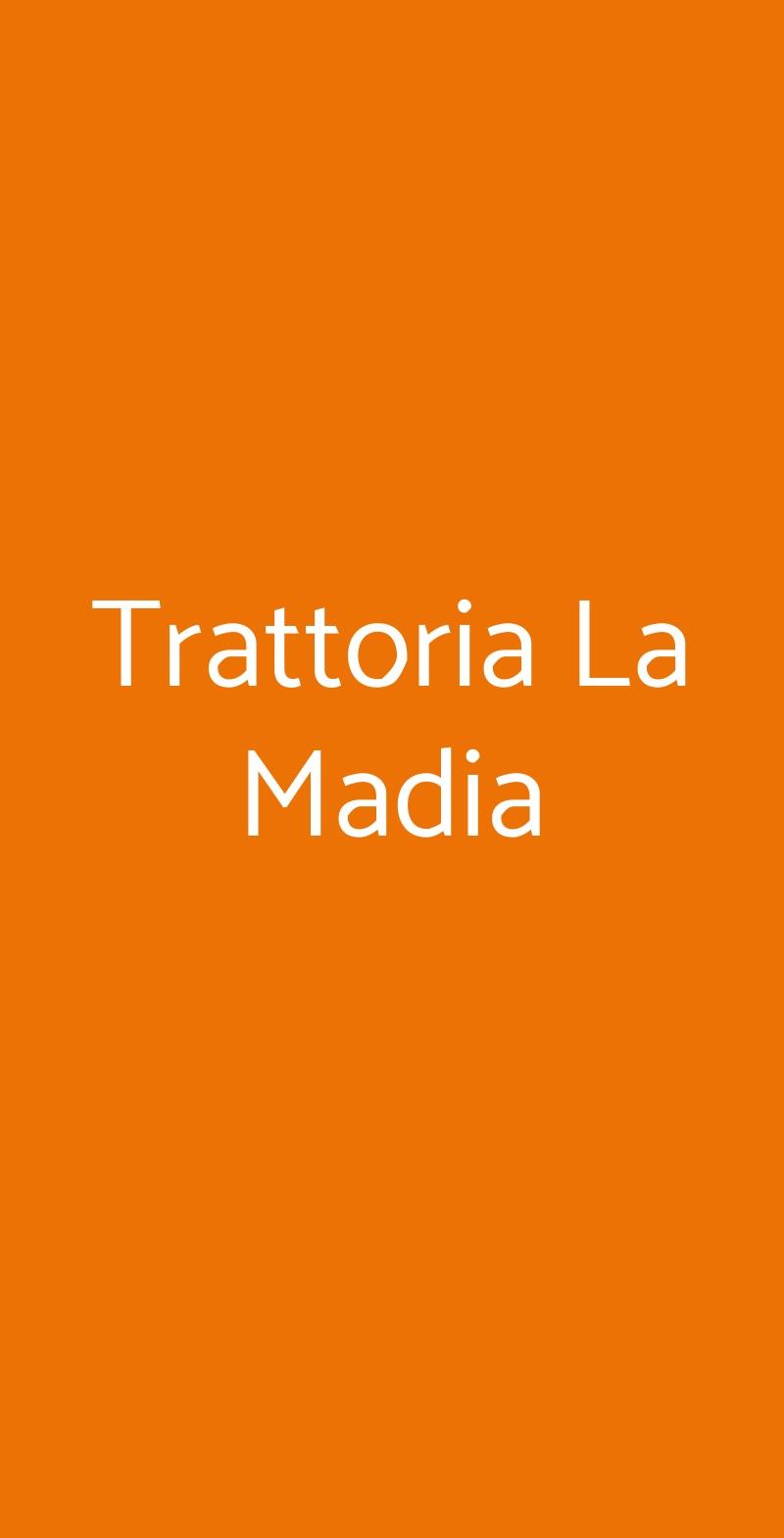 Trattoria La Madia Torino menù 1 pagina