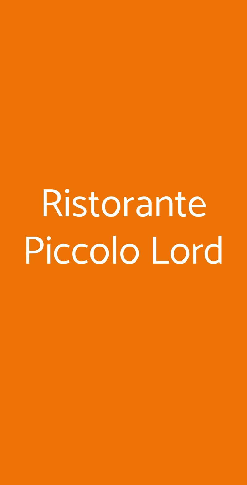 Ristorante Piccolo Lord Torino menù 1 pagina